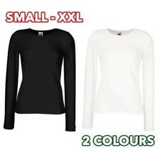 Cotton Blend Long Sleeve T-Shirts for Women