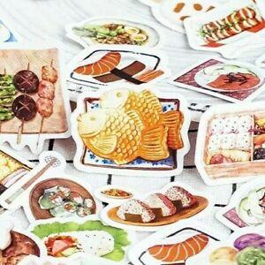 23pc cute kawaii korean japan food sushi snack stickers journal diary stationery