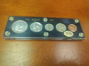1950 Proof Set - 5 coin Set In Blue Capital Plastics Holder -90% Silver