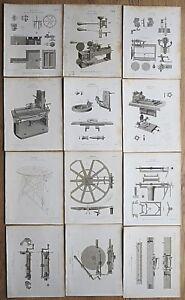 1820 12 Engine Ramden's Engine Engravings Genuine Antique Prints Rees