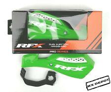 RFX HAND GUARDS  VENTED GREEN MOTOCROSS HANDGUARDS KAWASAKI KX 65 85 125 250