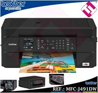IMPRESORA MULTIFUNCION COLOR BROTHER MFC J491DW WIFI IMPRESION DUPLEX OFERTA 4UD