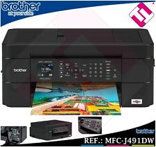 Brother MFC-J491DW Colour Inkjet Wireless All-In-One Printer Mobile Device and Duplex Printing - Black