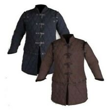Medieval Thick Padded Black Gambeson Costumes Suit Of Armor Larp Sca