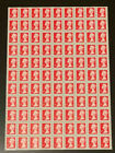 100 RED - 1st Class Security Stamps Unfranked OFF PAPER with gum