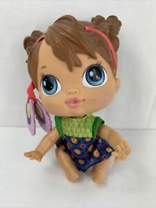 Baby Alive Crib Life Doll MAKAYLA SONG Retired 2010 Blue Eyes Brown Hair