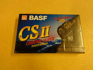 NEW & SEALED AUDIO CASSETTE BASF CSII CHROME SUPER POSITION HIGH 90