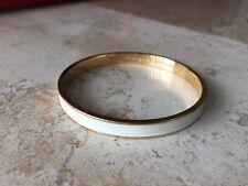 Kate Spade Thin White/Ivory Enamel Bangle Bracelet, NWT