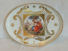 """Antique Early Schonwald Beehive Porcelain 12"""" x 16"""" Portrait Tray. Germany"""