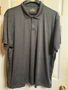 Outdoor Life Mens Dark Gray Moisture Wicking Polo Shirt Size 3XL