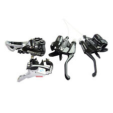 Shimano MTB Bike RD-M360 Front/Rear Derailleur + ST-M360 Shift/Brake Levers Set