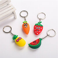 Creative Carrot  Pineapple Keyring Simulation Fruit Keychain Suitable ForWomen b