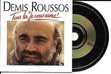 """CD CARTONNE CARDSLEEVE 2 TITRES DEMIS ROUSSOS TOUS LES """"JE VOUS AIME"""" 1993"""