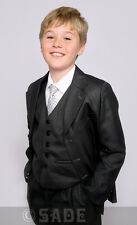 Boys Charcoal Grey Suit Ideal for Christmas/ New Year Party 1-13 Years Milo