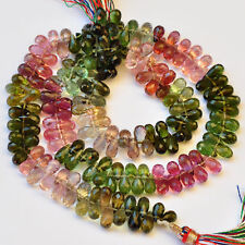 """Brazilian Old Mine Tourmaline Faceted Full Drop Beads 15.7"""""""