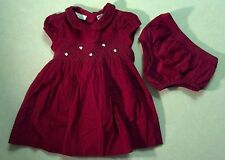 NWOT Gorgeous Girl's Size 6-9 M Months Two Piece Red Corduroy Floral Dress Set