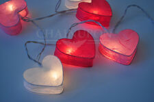 LOVE PINK HEART LANTERN STRING PATIO,DECORATE,BEDROOM,LIVING ROOM,WEDDING LIGHTS