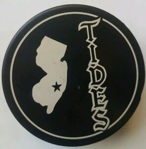 NEW JERSEY TIDES VINTAGE OFFICIAL HOCKEY PUCK MADE IN CZECHOSLOVAKIA MINOR TEAM