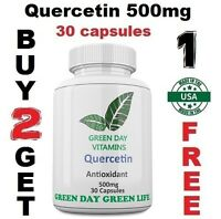 Quercetin Antioxidant 500mg  Heart Healthy Quality Made in USA / Free shipping