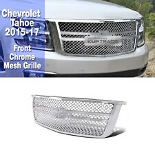 Luxury Sports Mesh Style Front Chrome Silver Grille For Chevrolet 2015-17 Tahoe