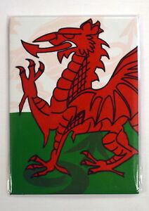 WELSH FLAG / DRAGON design FRIDGE MAGNET,  Wales / Cymru / Welsh