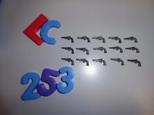 LOTE PLAYMOBIL NORDISTA,armes, revolveres, colts de chasse, winch ,LOTE 253