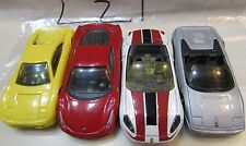 HOT WHEELS LOT OF 4 FERRARI 458 ITALIA 355 CALIFORNIA F355 SPIDER LOOSE