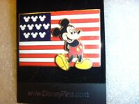 Disney Pin - American Flag - Mickey Mouse BEAUTIFUL AND PATRIOTIC, USA