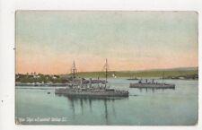 War Ships In Esquimalt Harbour Canada Vintage Postcard 499a