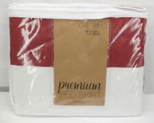 """Burgundy Home Collection Pleated Bed Skirt California King 72"""" x 84"""" x 14"""" T3"""