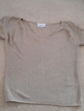 Ladies Size 12 Gold Sparkly Ribbed Top From Principles