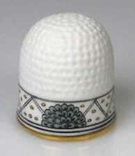 Fingerhut thimble indische Malerei Pfau schwarz Gold Meissen Porzellan handbemal