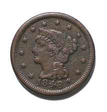 1848 Braided Hair Petite Head Liberty Large Cent