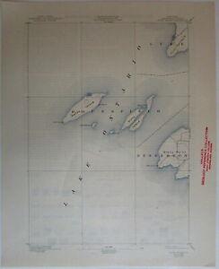 Stony Island Quadrangle 1944 Jefferson NY Lake Ontario WW II U.S. topo chart