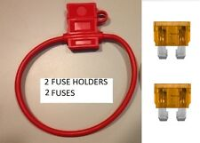 (2) 10 GAUGE ATC FUSE HOLDER With COVER + (2) 40 AMP FUSES IN-LINE 10 GA. USA