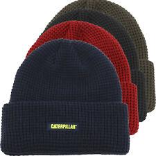 Caterpillar Beanie Men Unisex Cuffed Grid Knit Watch Cap Winter Hat 1120168