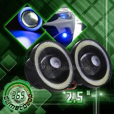 "COB LED Fog Bulb 2.5"" Projector Blue Angel Eye Halo Ring DRL Driving Bulbs Light"