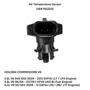 Ambient Air Temp Sensor for Holden Commodore 3.6L VE SV6 2006-13 Suits Front RHS