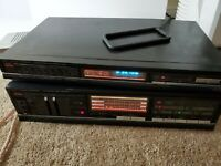 FISHER AM/FM SYNTHESIZER TUNER MODEL FM-271A AND STEREO AMPLIFIER CA-270/WORKING