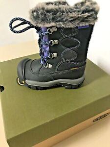 Adorable Toddler Waterproof Keen Boots Size 8 Kelsey Black/Periwinkle