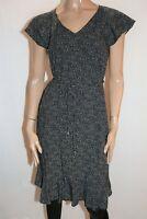 TARGET Brand Black White Belted Short Sleeve Shift Dress Size 8 NEW #AN02