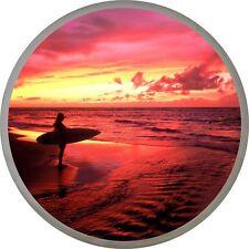 4x4 Spare Wheel Cover 4 x 4 Camper Graphic Vinyl Sticker Surfer Surfing AA71