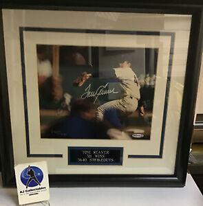 Tom Seaver autographed framed, matted 8x10 ud hol. coa hof mets 246/400 z1