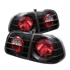 Fit Honda 99-00 Civic 4dr Black Euro Style Tail Lights Brake Lamp DX GX EX Sedan