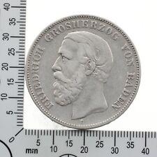 """Baden: 5 Mark 1876 G - Grosherzog Friedrich - """"A"""" ohne Querstrich - Selten"""