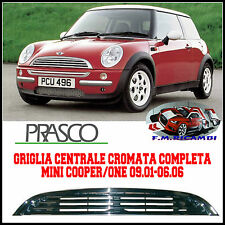 GRIGLIA CENTRALE COFANO COMPLETA CROMATA MINI COOPER ONE DAL 09.2001 AL 06.2006