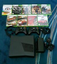 Microsoft Xbox 360 Slim 250 GB Black Console + games bundle