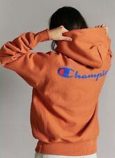 Champion Reverse Weave Back Script Logo Hoodie Pullover Sweatshirt Sz Small