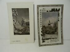 Vintage c1910 Christmas Rppc on Bromide Paper Lot of 2 Postcards - P31