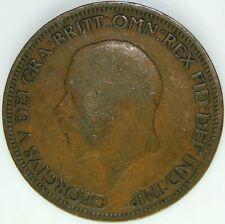 1928 HALF PENNY OF GEORGE V.     #WT15474